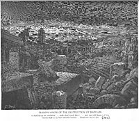 Isaiah-s Vision of the Destruction of Babylon, dore