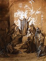Jeremiah Preaching to His Followers, dore