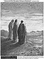 Jesus And The Disciples Going To Emmaus, dore