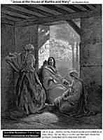 Jesus At The House Of Martha And Mary, dore