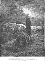 The Levite Carries the Woman-s Body Away, dore