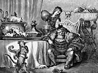 The Ogre Received Him As Civilly As An Ogre Can, dore
