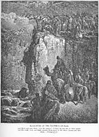 The Prophets of Baal Are Slaughtered, dore
