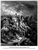 Richard I the Lionheart in battle at Arsuf in 1191, 1877, dore