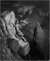Satan-s Flight Through Chaos, c.1868, dore