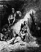 Semiramide, spidocchiatrice di straccioni, 1854, dore