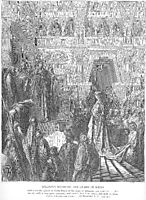 Solomon Receives the Queen of Sheba, dore
