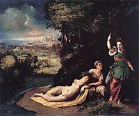 Diana and Calisto, 1528, dossi