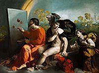 Jupiter, Mercury and Virtue, 1524, dossi