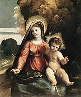 Madonna and Child, 1525, dossi