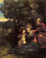The Rest on The Flight into Egypt, dossi