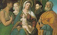 Sacra Conversazione, 1520, dossi