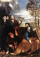 Sts John and Bartholomew with Donors, 1527, dossi