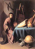 Artist in His Studio, 1632, dou