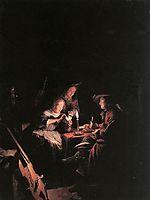 Cardplayers at Candlelight, c.1660, dou