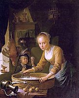 Girl Chopping Onions, dou
