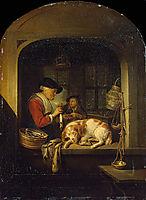 The herring seller, 1675, dou