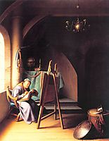 Man with Easel, dou