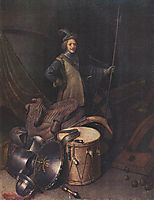 Officer of the Marksman Society in Leiden, c.1630, dou