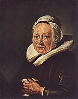 Portrait of an Old Woman, 1645, dou