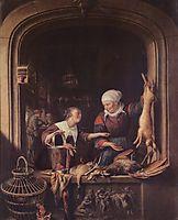 A Poulterer-s Shop, c.1670, dou
