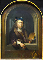 Self-portrait with a Palette, in a Niche, 1655, dou