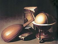 Still Life with Globe, Lute, and Books, c.1635, dou