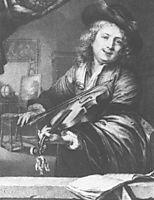 Violin player, 1667, dou
