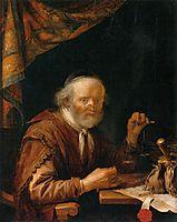 Weighing Gold, 1664, dou