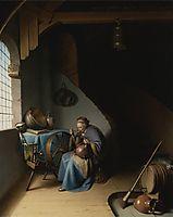 Woman Eating Porridge, c.1637, dou