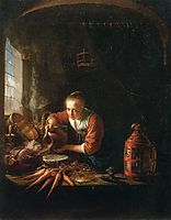 Woman Pouring Water into a Jar, c.1640, dou