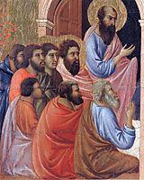The apostles of Maria (Fragment), 1311, duccio