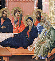 The apostles of Maria (Fragment), 1311, duccio
