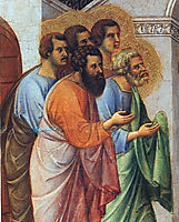 Appearance of Christ to the apostles (Fragment) , 1311, duccio