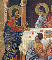 Appearance of Christ to the apostles(Fragment), 1311, duccio