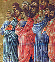 Appearance of Christ to the apostles (Fragment), 1311, duccio