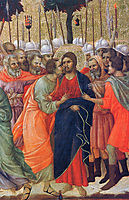 Arrest of Christ (Fragment), 1311, duccio