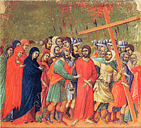 Carrying of the Cross, 1311, duccio