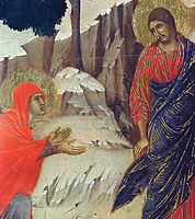 Christ Appearing to Mary Magdalene (Fragment) , 1311, duccio