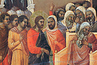 Christ before Caiaphas (Fragment) , 1311, duccio