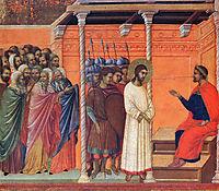 Christ before Pilate, 1311, duccio