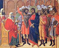 Christ in front of Anna, 1311, duccio