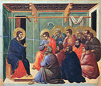 Christ preaches the Apostles, 1311, duccio