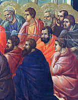 Christ preaches the Apostles (Fragment) , 1311, duccio