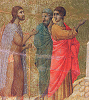 Christ on the road to Emmaus (Fragment) , 1311, duccio
