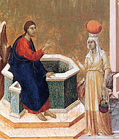 Christ and the Samaritan woman (Fragment) , 1311, duccio