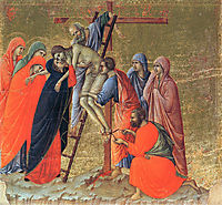 Descent from the Cross, 1311, duccio