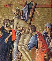 Descent from the Cross (Fragment) , 1311, duccio