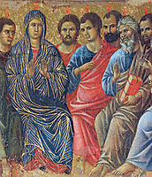 Descent of the Holy Spirit upon the Apostles (Fragment) , 1311, duccio