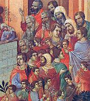 Entry into Jerusalem(Fragment), 1311, duccio